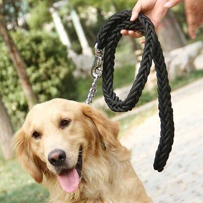 Retriever Outdoor Heavy Duty Pet Braided Rope Lead Leash Large Dog Labrador