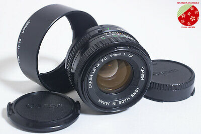 ●●Near Mint CANON NEW FD 50mm F1.8 MF Manual Focus Prime Lens NFD from Japan●●