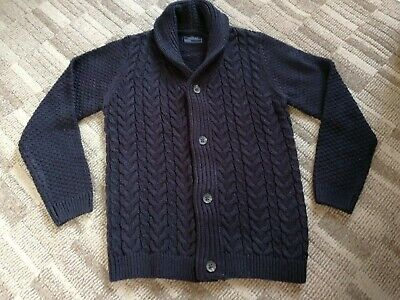 New Without Tags Boys Next Navy Cable Knit Jumper Age 9 Years