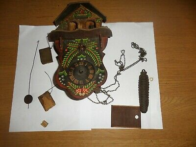 Vintage cuckoo clock / weather house for parts 70 + years old
