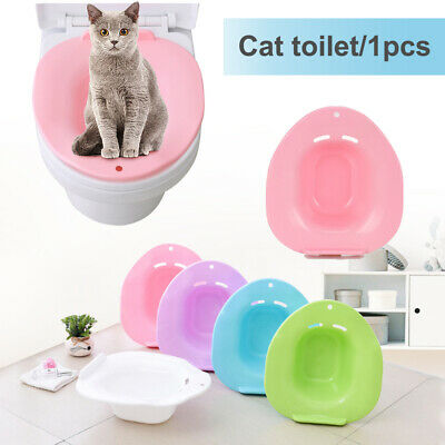 1x Plastic Pets Toilet Training Cat Kit Supplies Pet Tray Litter Potty Cleaning