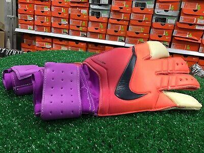 New Nike GK Grip 3 Soccer Goalkeeper Gloves Coral / Purple Size 8 New In Bag