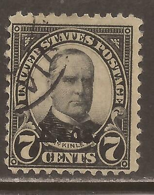 US Sc# 665 used 7c Kans. overprint