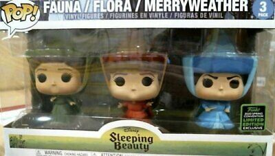 Funko ECCC 2020 FAUNA FLORA MERRYWEATHER DISNEY Shared Exclusive PREORDER