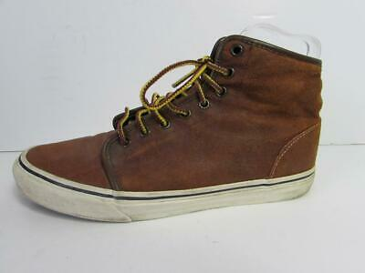 VANS Men's Brown Lace Up Skateboard Shoes Trainers Ankle Boots UK Size 9 US 10