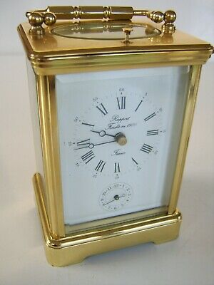 Beautiful Carriage Clock Repeater Rapport France 1900 On The Dial