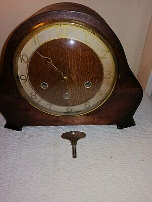 Smiths, Westminster Chimes Mantle Clock & Smiths Key, Sold For Restoration.