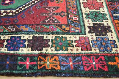 "6'7 x 9'3 Festive Dated Signed ""Good Wishes"" Vintage Handmade Wool Rug 7 x 10"