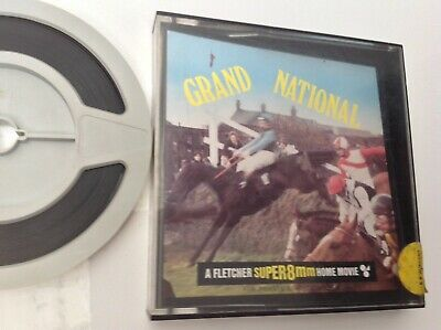 THE GRAND NATIONAL FLETCHER SUPER 8 CINE FILM B/W SILENT 200ft RED RUM RAG TRADE