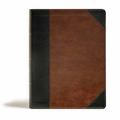 CSB Tony Evans Study Bible, Black/Brown LeatherTouch, Indexed : New