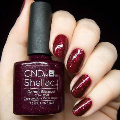 CND Shellac Garnet Glamour Color LED Gel UV Neu Nagellack Top Super Qualität
