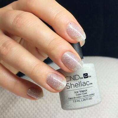 CND Shellac Ice Vapor Color LED Gel UV Neu Nagellack Top Super Qualität