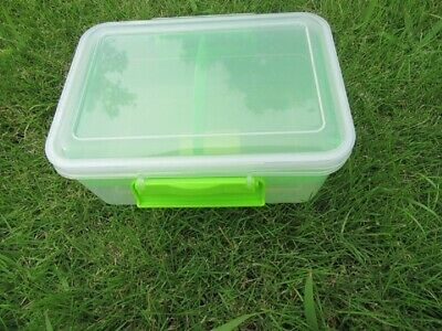 4Pcs BPA Free Lunch Box Food Container Tray & Lid 1.9 Liter