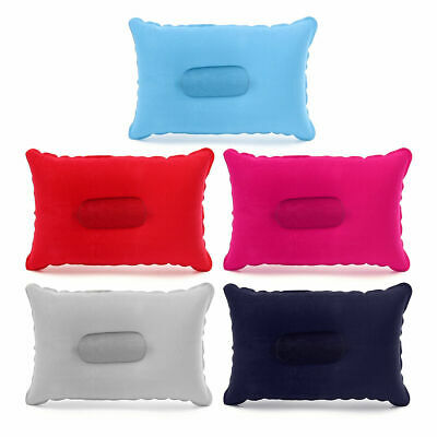 Inflatable Lightweight Airplane Pillow Cushion Travel Hiking Camping Portable