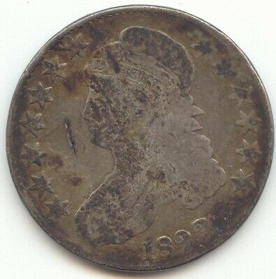1823 Capped Bust Half Dollar, G-VG Details, True Auction, No Reserve
