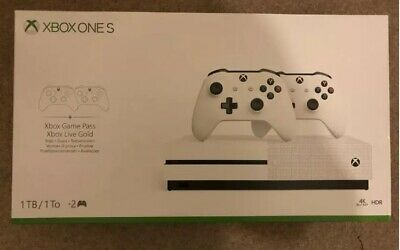 COLLECTION ONLY! BRAND NEW SEALED! Xbox One S 1TB Console W/ 2/TWO controllers!