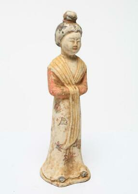A Rare Chinese Antique Tang Dynasty Pottery Lady