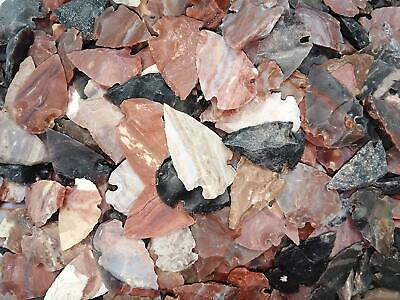 ###35 pc lot flint arrowhead OH collection project spear points knife blade ###