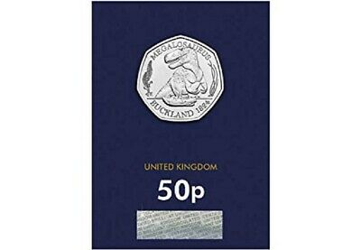 2020 Uk Megalosaurus 50P  Uncirculated Coin Certified - Official Uk Issue