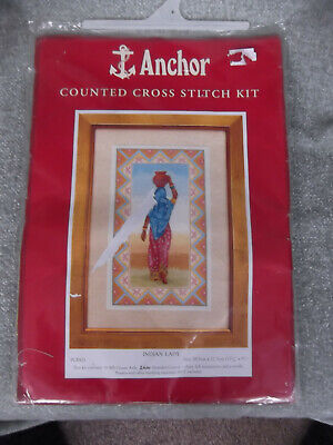 (382) Anchor Counted Cross Stitch Kit # Indian Lady # Unused & Complete