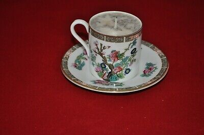 Pall Mall Indian Tree Bone China Tea Cup & Saucer Converted to A Candle