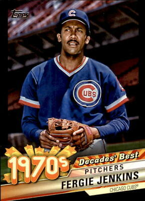 2020 Topps Series 1 FERGIE JENKINS Decades' Best BLACK /299 Cubs #DB-34