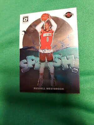 Russell Westbrook 2019-20 Panini Optic Splash Insert #10 Rockets