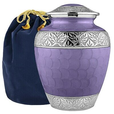 Trupoint Memorials Silver Linings Lavender Adult Large Urn for Human Ashes