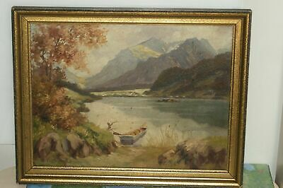 Oil painting landscape signed
