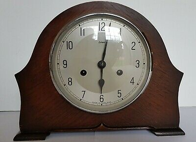 Enfield Wooden Mantle Clock - With Pendulum And Key.