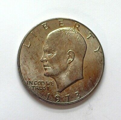 """1973-S Eisenhower """"Ike"""" Silver Dollar Near Perfect Uncirculated"""