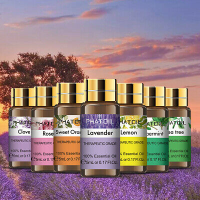 Aromatherapy Essential Oils 100% Natural Pure 5ml Essential Oil Fragrances Z,
