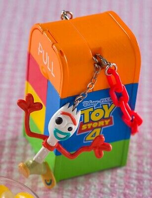 """New Toy Story 4 Forky Snack Case 2019 Candy Bucket 3.5"""" Tokyo Disney Sea In Hand"""