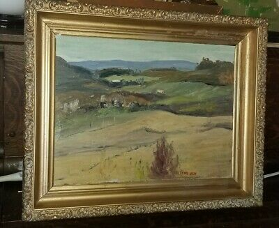 Vintage Canadian Painting Quebec Painting  Signed  Listed Artist