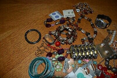 Estate Vintage - Now Jewelrymed Lot Necklaces Earrings  Ready To Wear No Junk