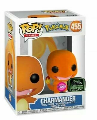 Funko Pop Flocked Charmander Eccc Shared Exclusive Preorder W/ Protector