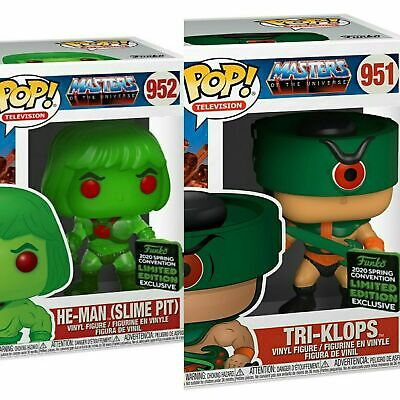 Funko ECCC 2020 He-Man Tri-clops Slime Shared Exclusive Preorder W/ PROTECTERS
