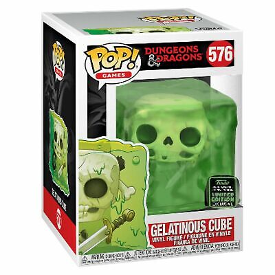 Funko ECCC 2020 GELATINOUS CUBE SLIME Shared Exclusive Preorder W/ PROTECTOR