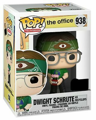 Funko ECCC 2020 DWIGHT AS RECYCLOPS Shared Exclusive Preorder W/ PROTECTOR