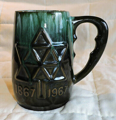 Bmp 1967 Blue Mountain Pottery Old Mark Canada Centennial Ceramic Beer Stein