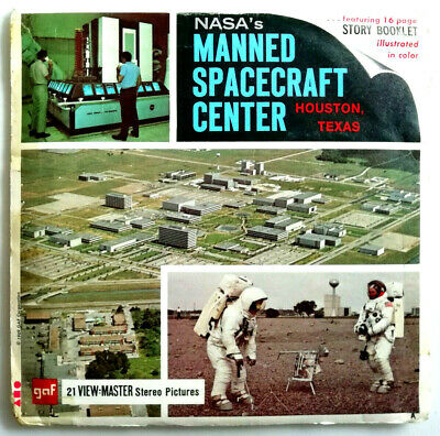 3x VIEW MASTER REEL ⭐ MANNED SPAECRAFT CENTER ⭐ + BOOKLET ⭐ NASA ⭐ HOUSTON TEXAS