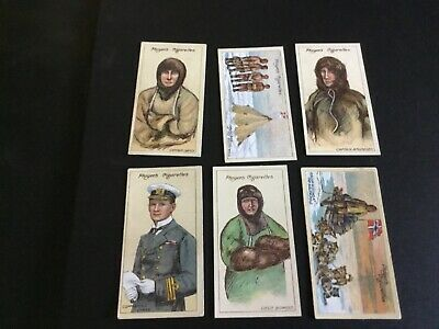 1916 John Player And Sons Tobacco Polar Exploration Card Lot X 6