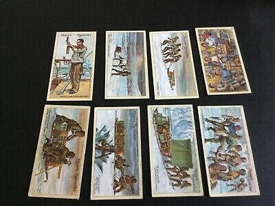 1916 John Player And Sons Tobacco Polar Exploration Card Lot X 8