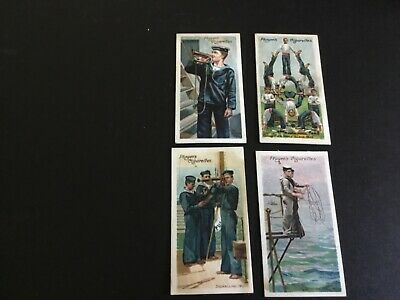 1905   John Player And Sons Life On Board A Man Of War Tobacco  Card Lot X 4 #2