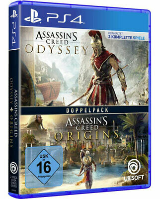 Assassins Creed Double Pack Odyssey + Origins PLAYSTATION 4 PS-4 German Version