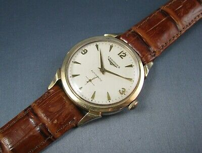 Vintage Longines 10k Gold Filled Automatic Mens Watch  22A 17J 1950s