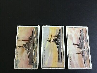1920 Wills's Warships   Tobacco Card Lot X 3