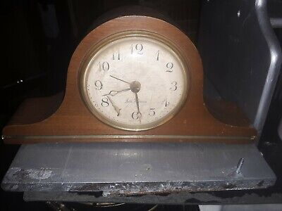 Antique Seth Thomas Tambour Mantel Clock Time And Strike Sentinel #4 Model