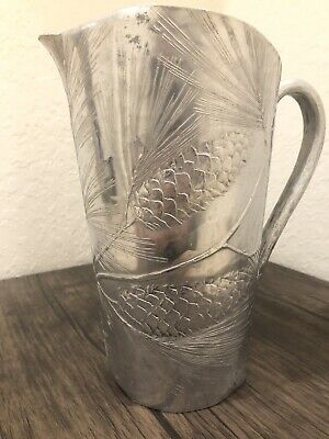 Vintage Wendell August Forge Aluminum Pine Cone Water Pitcher #476 .