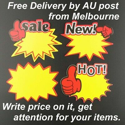 Paper Price Labels Promotion Sales Tags Retail Discount Clearance